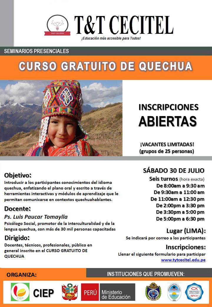 2016_ Seminario de Quechua